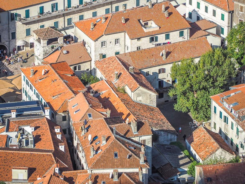 Kotor Old City from above