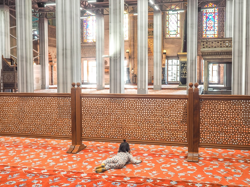 Visiting the Istanbul Blue Mosque with kids