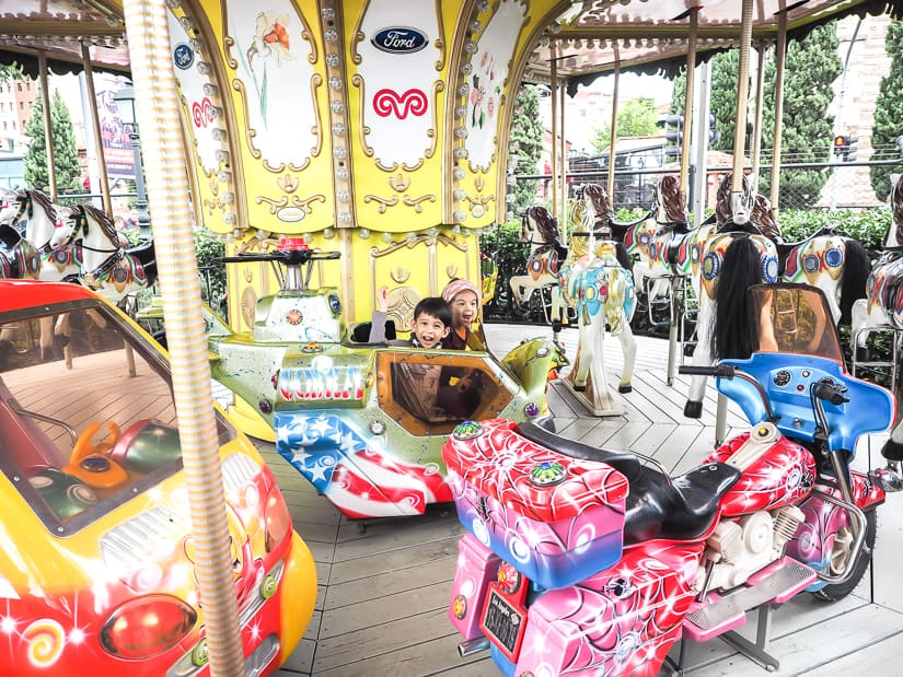 Merry-go-round at Rahmi M. Koc Museum, one of the best places to visit with kids in Istanbul