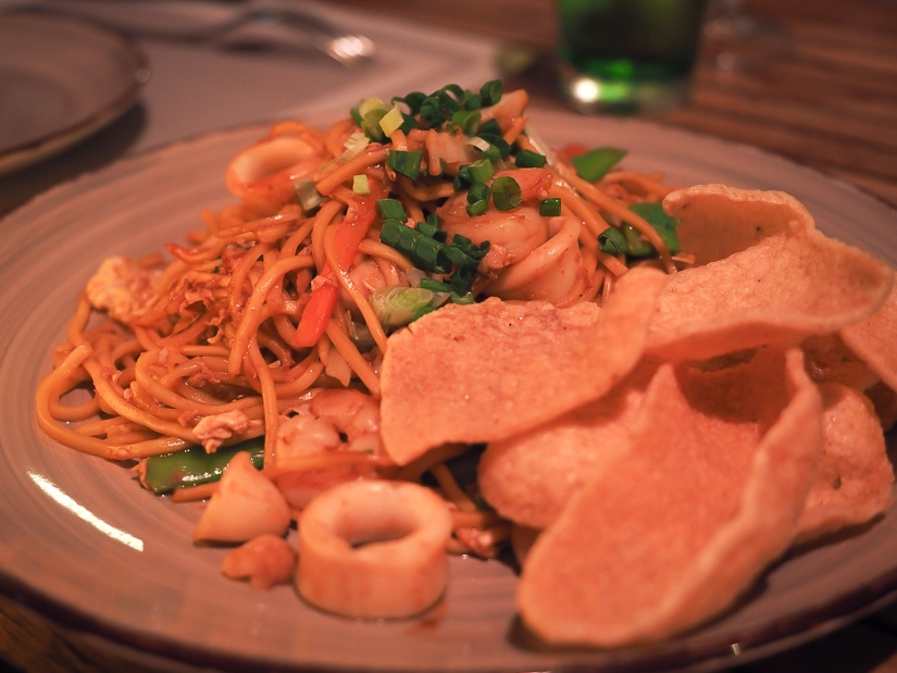 Our noodle dish at Marjan Restaurant, Grand Hyatt