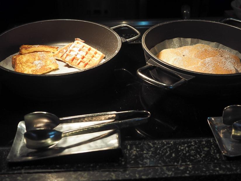 Pancakes and waffles at Mokha Cafe