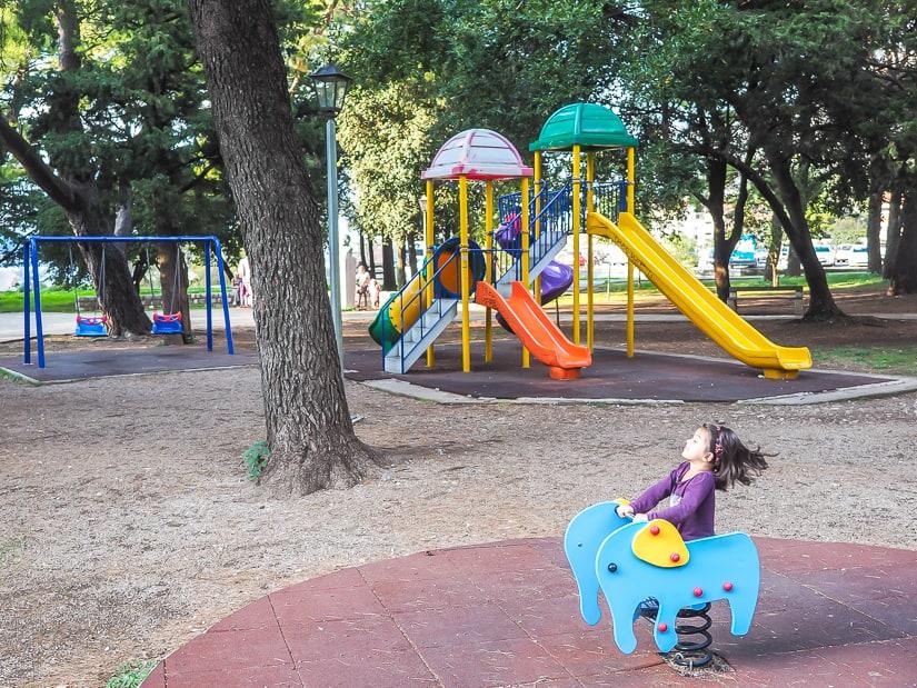 Playground at Park Slobode in Kotor