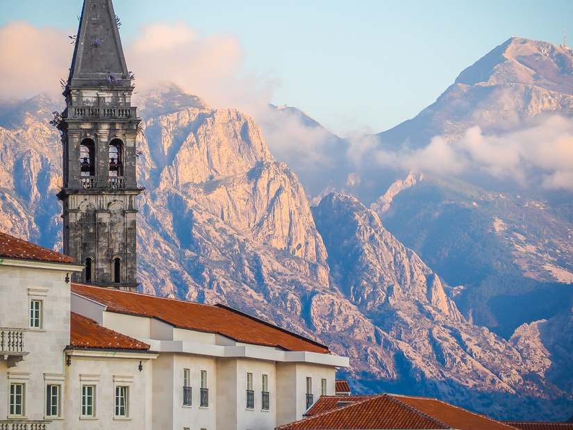 Famous view of Perast, shot from Perast Museum
