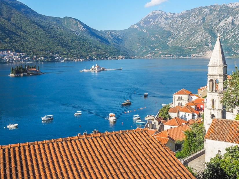 View of Perast and Bay of Kotor