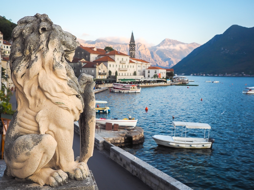 View from the second floor balcony at Perast Museum (Bujovic Palace)