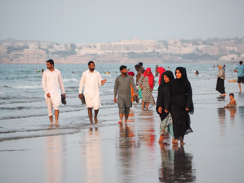 Muscat Qurum Beach on Friday afteroon