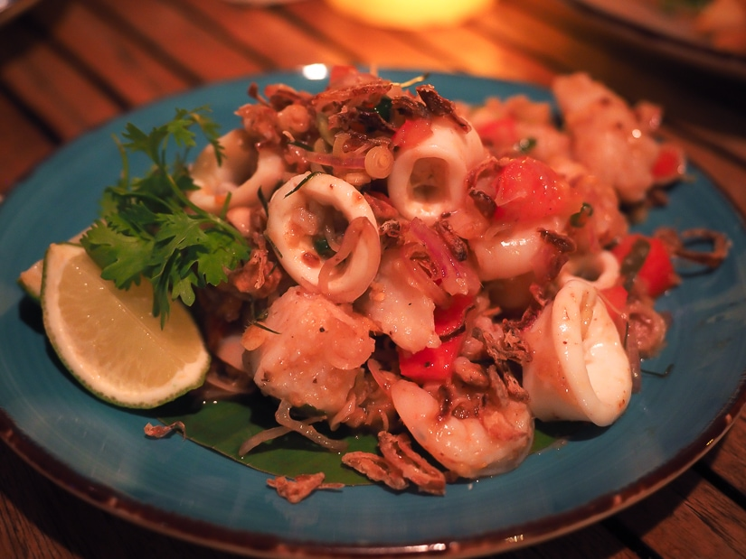 Seafood salad at Marjan Bar & restaurant Oman
