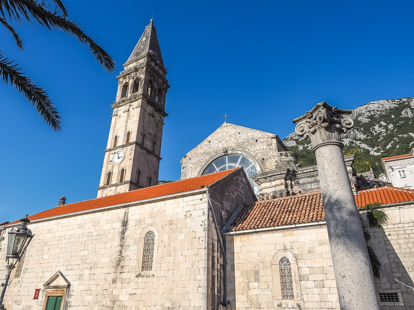 Outside view of Saint Nikola Church, one of the most famous Perast attractions