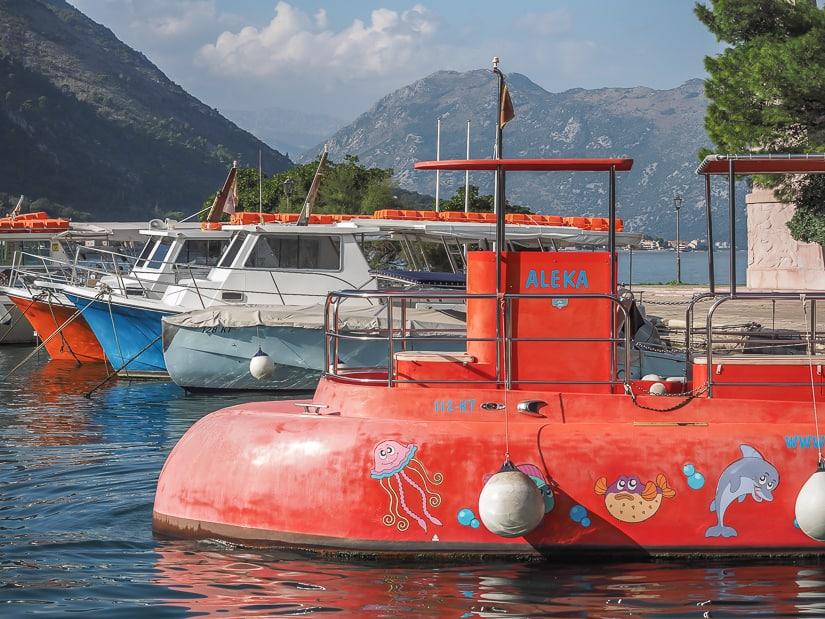 Semi-submarine cruise on Boka (Bay of Kotor)