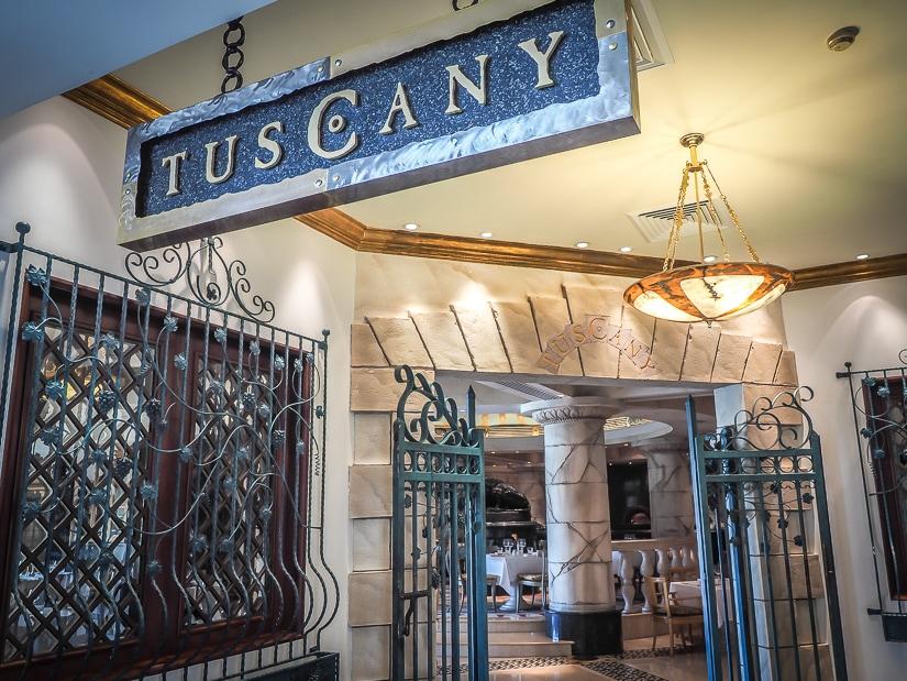 Tuscany restaurant, Grand Hyatt Muscat