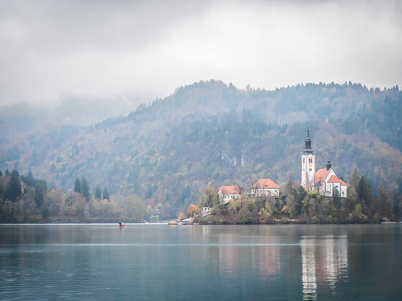 Bled Island in late October/early November