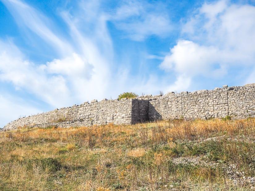 The ruins of Bribirska Glavica in Croatia