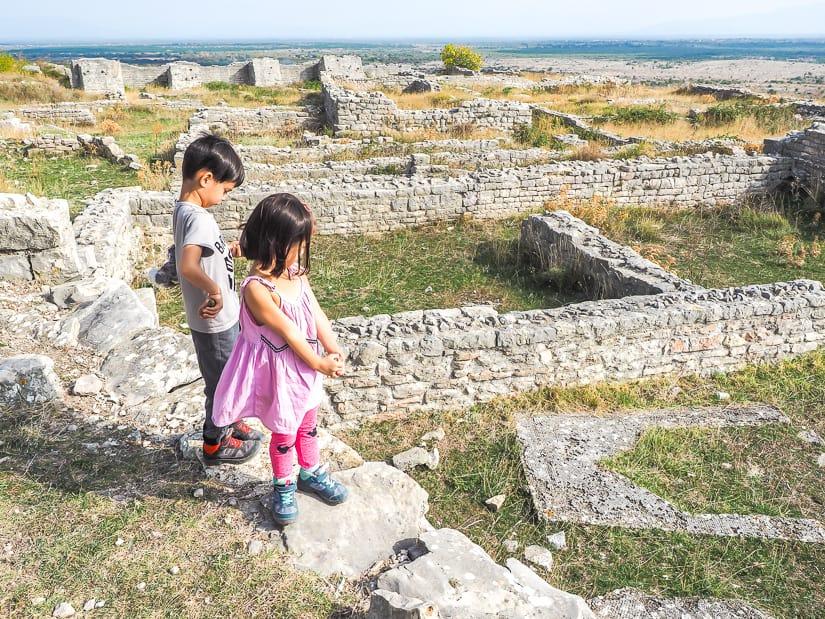 Visiting Bribirska Glavica in Skradin with kids