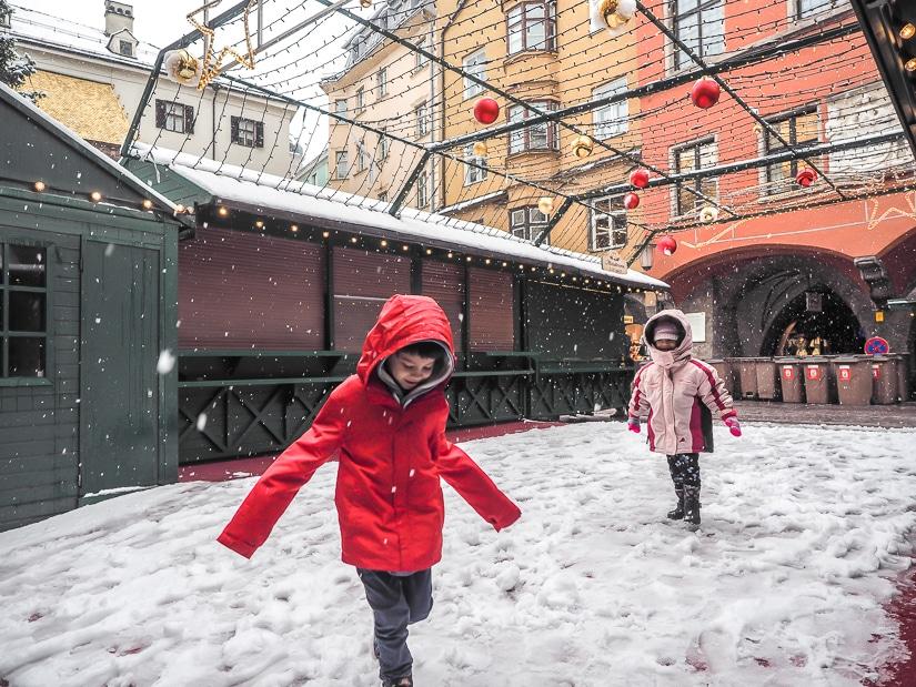 Visiting Innsbruck Christmas Market with kids