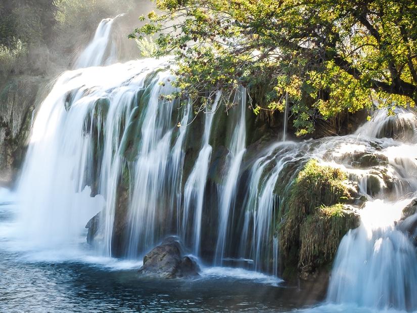 A waterfall in Krka National Park near Skradin