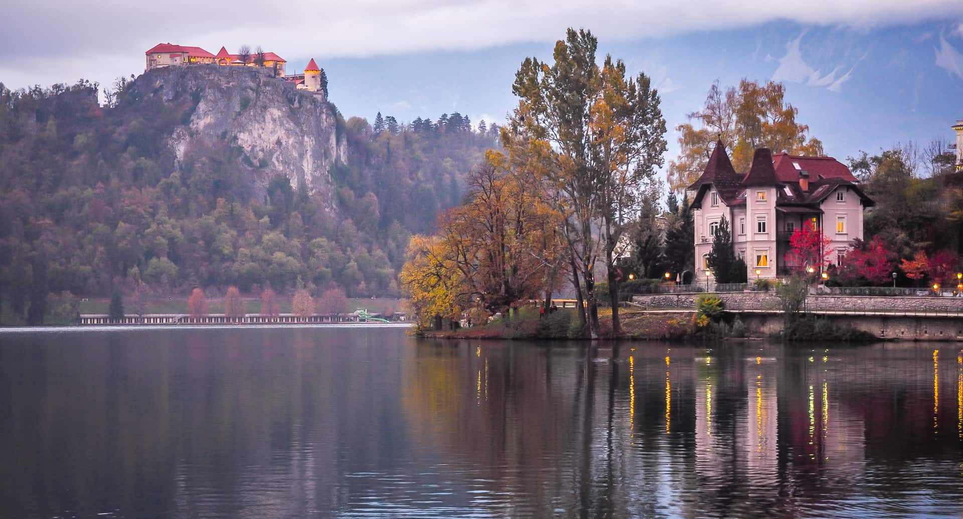 A guide to visiting Lake Bled in autumn, including October and November in Lake Bled
