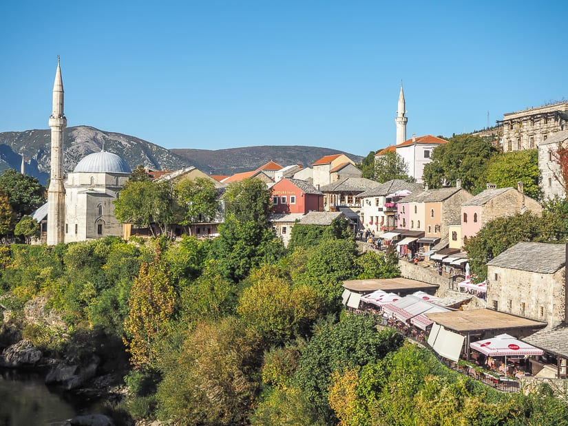 View of Mostar Old City in Bosnia and Herzegovina