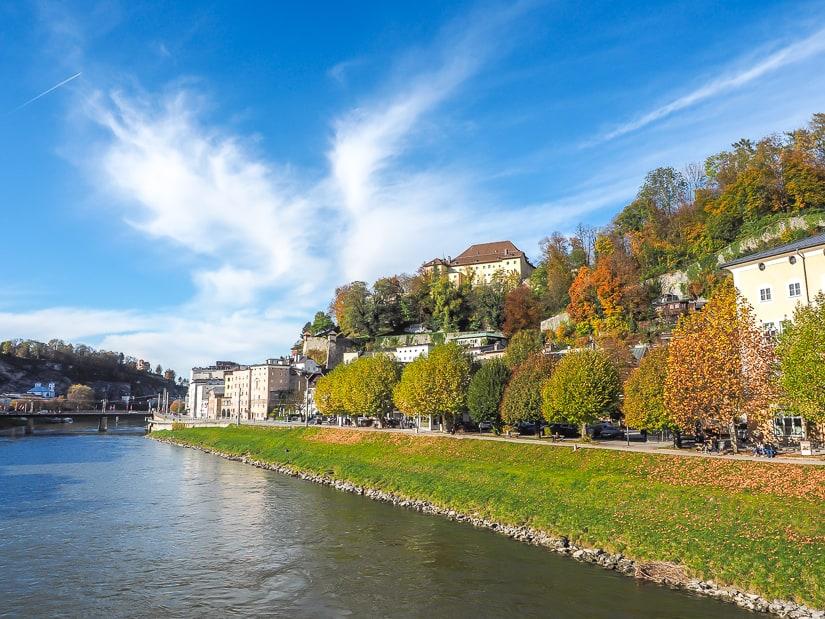 View from Mozartsteg (Mozart Bridge)