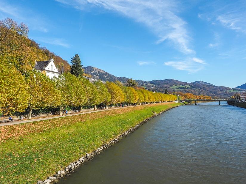 View from Mozartsteg in Salzburg