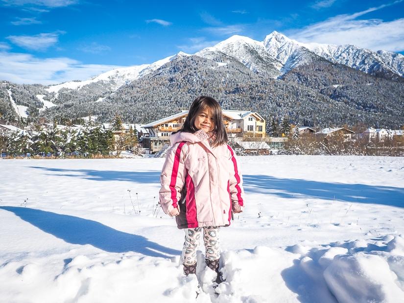 My daughter at Seefeld, Innsbruck with children