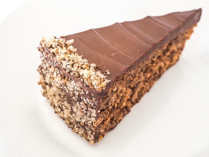 A slice of skradin cake (skradin torta or skradinska torta)