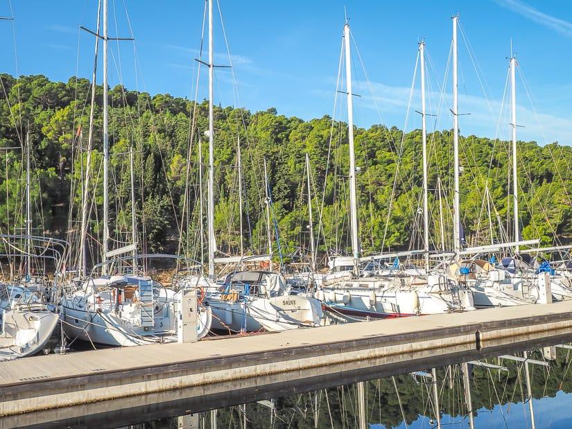 Boats docked at Skradin Marina