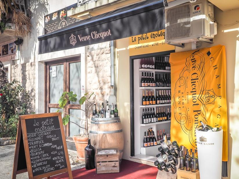 A wine shop in Skradin