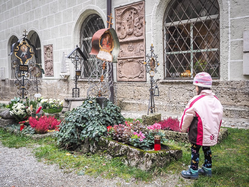 Visiting Salzburg's St. Peter's Cemetery with kids