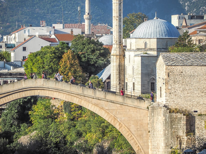 Stari Most (Mostar Old Bridge), the most popular of the many things to do in Mostar
