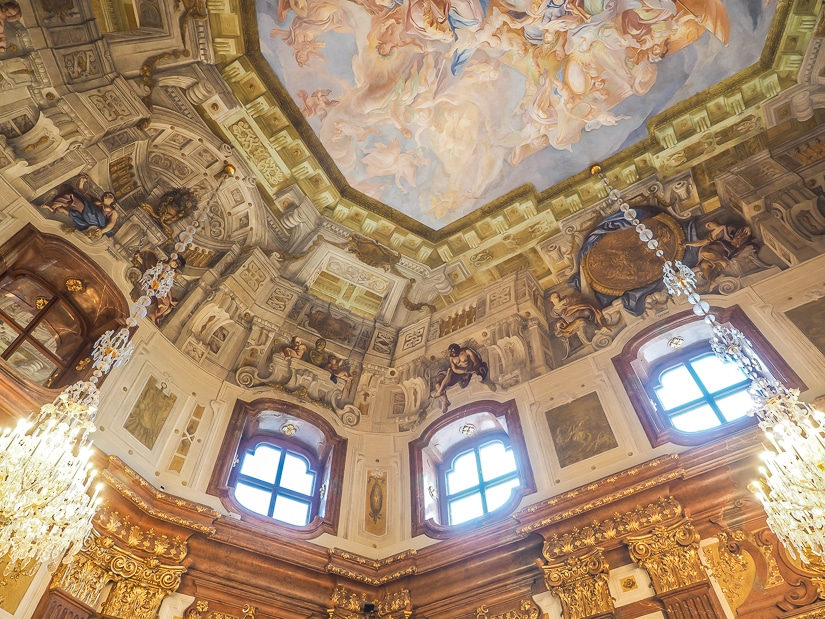Ceiling of Belvedere Palace Vienna