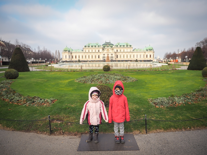 Visiting Vienna's Belvedere Palace with kids