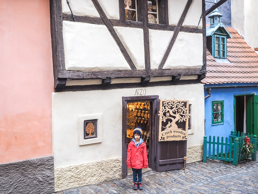 Golden Lane, Prague Castle with kids