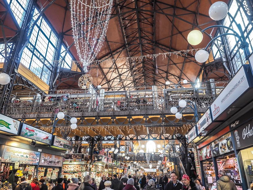 Interior of Great Market Hall Budapest