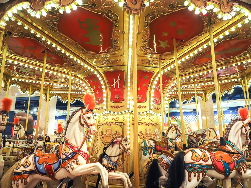 Carousel at Hamleys, the best toy store in Prague