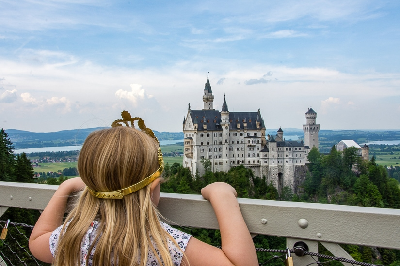 Visiting Neuschwanstein Castle with kids