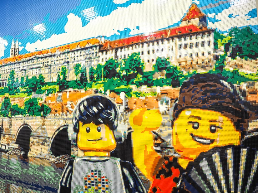 A scene of Prague in lego at the Prague Lego Museum