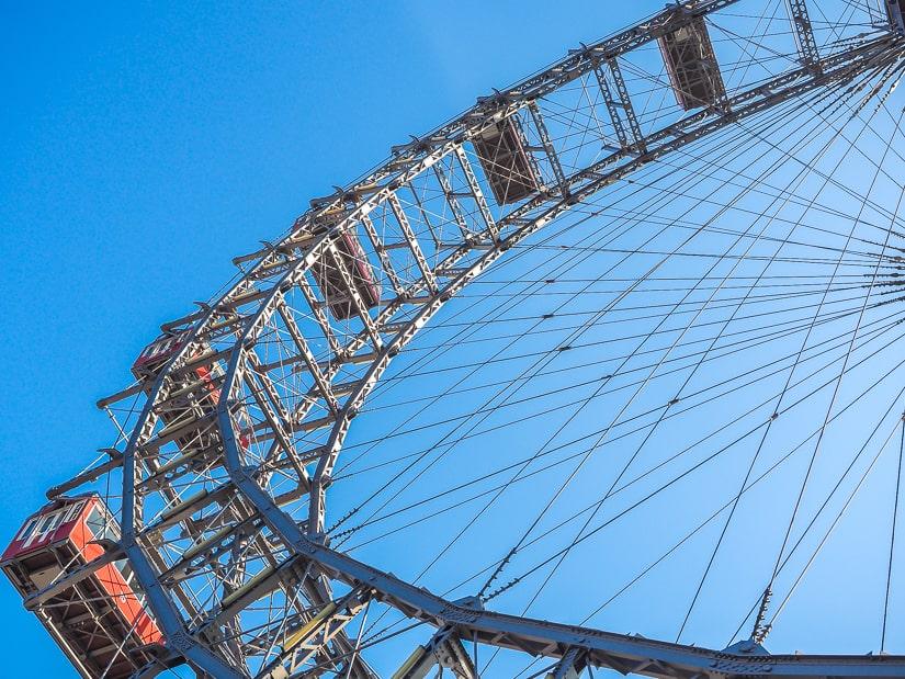 Prater Ferris wheel Vienna from below