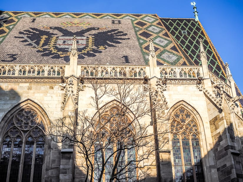 Side view of St. Stephen's Cathedral, Stephansplatz, Vienna