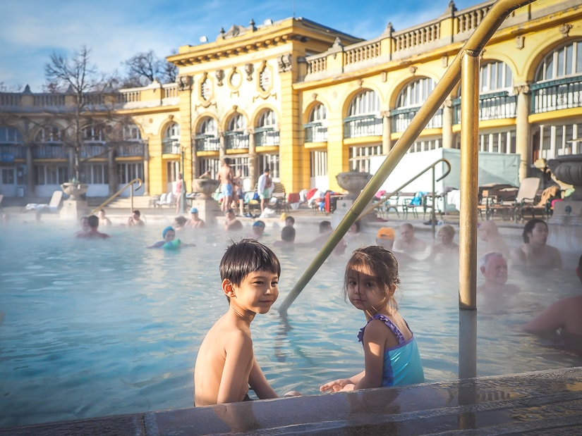 Visiting Szechenyi hot spring with kids
