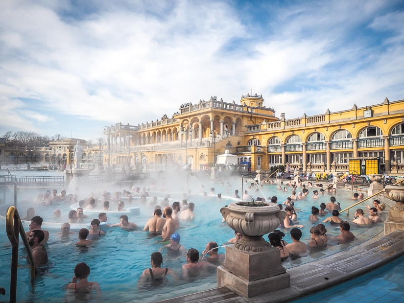 Szechenyi Baths, the most famous hot spring in Budapest