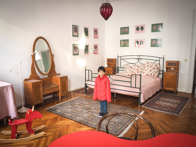 My son in one of the best places to stay in Vienna with kids