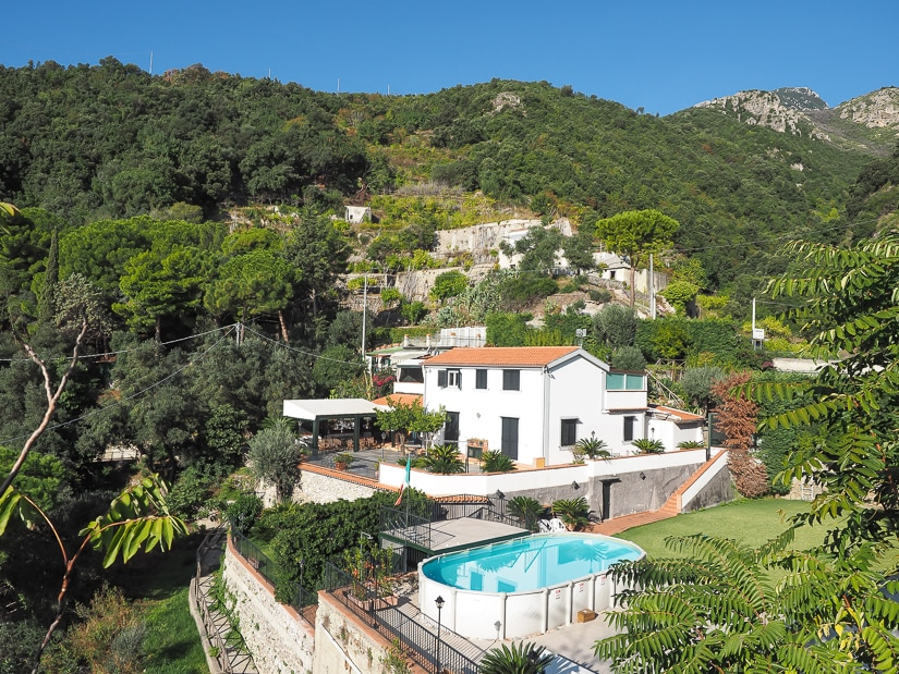 A private house along the Amalfi Coast