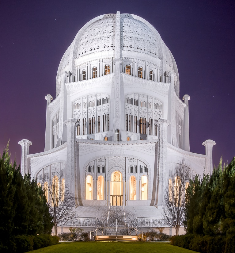 Bahai Temple in Chicago, one of the most important spiritual places in America