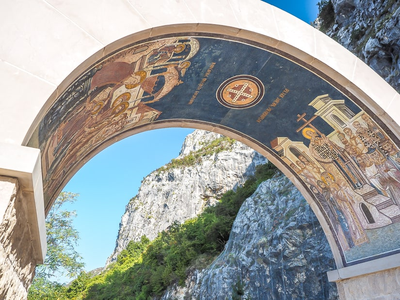 Entrance arch to Ostrog Upper Monastery