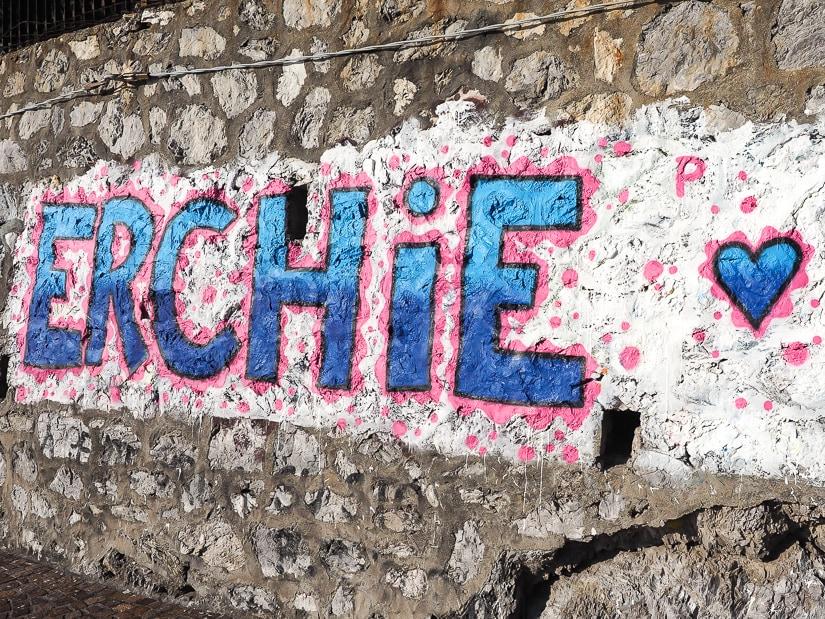 Erchie grafitti