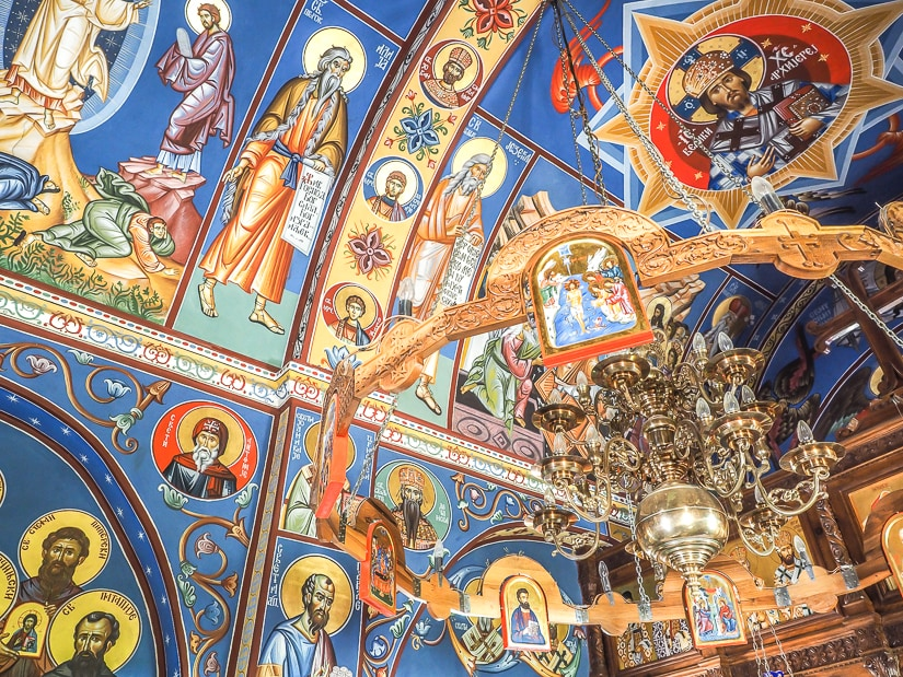 Inside shot of Holy Trinity Church, Ostrog Lower Monastery