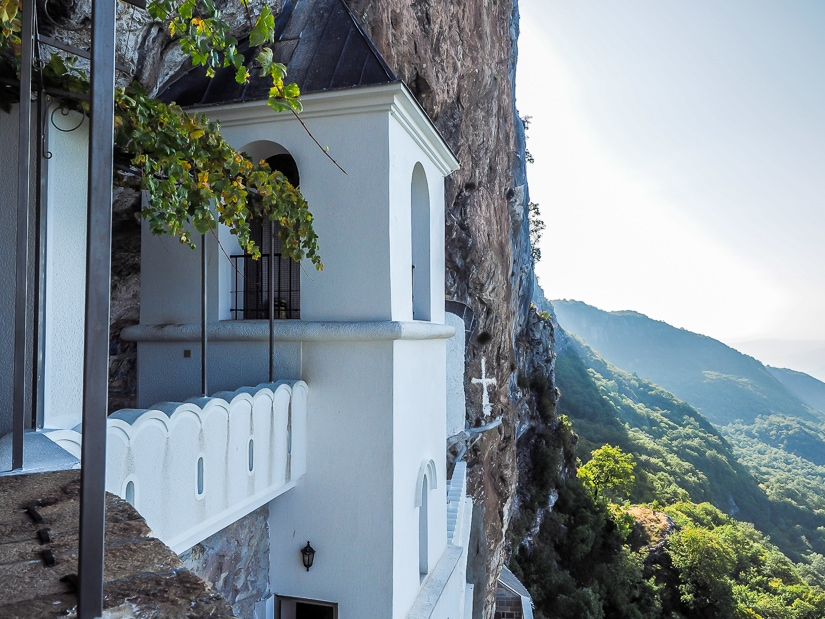 View from Ostrog Upper Monastery
