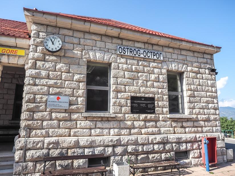 Ostrog Train Station building