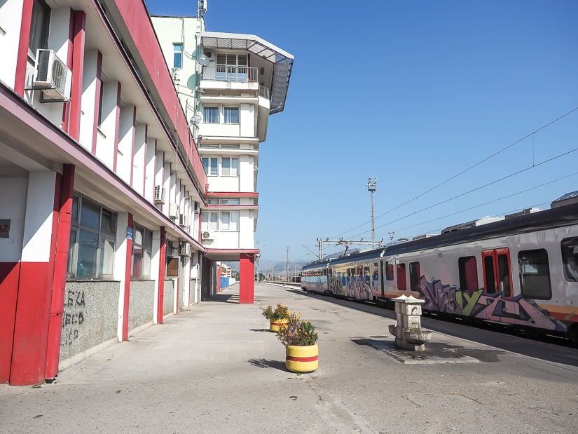 Podgorica train station, where you can catch a train to Ostrog Monastery