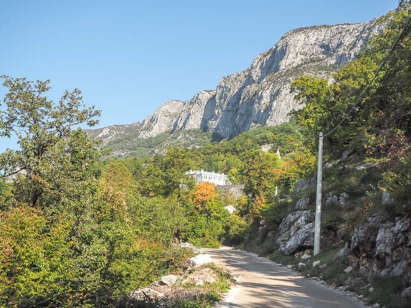 Road that leads to Ostrog Monastery